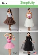 1427 Simplicity Pattern: Misses' Tulle Skirt in Three Lengths